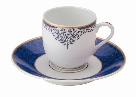 Mavi dal desenli türk kahve fincanı