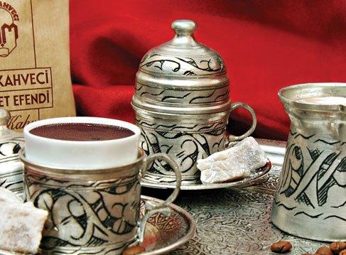 bakırlı porselen türk kahvesi modelleri