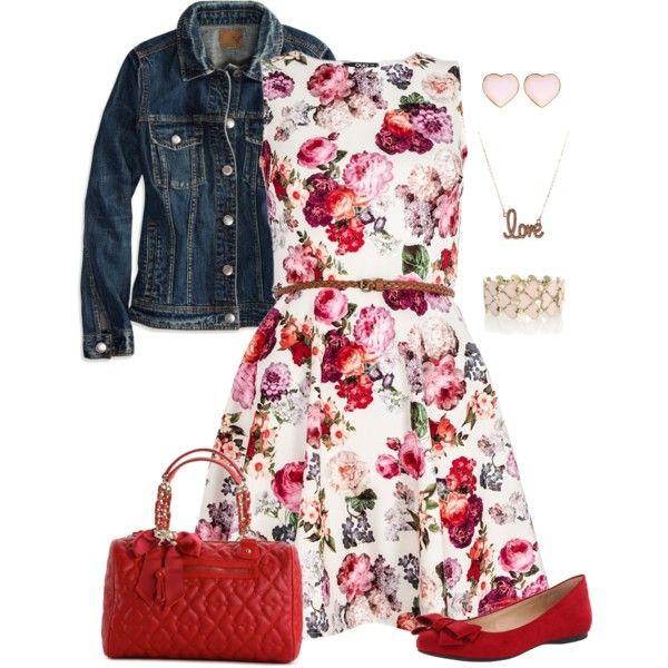 çiçeklki elbise kot mont